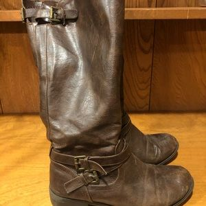 Brown Riding Boots, Size 8